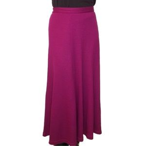 Vintage Wool Maxi Skirt with Back Pleats